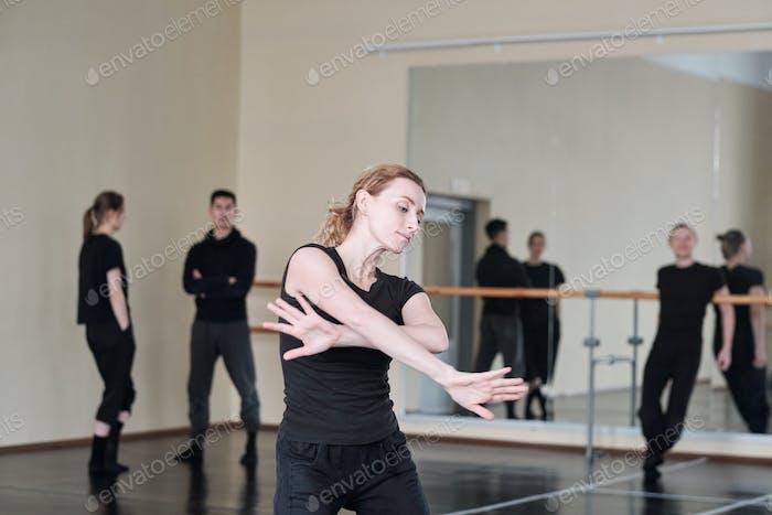 Young Woman Dancing Portrait