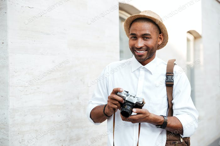 Portrait of an African male photographer