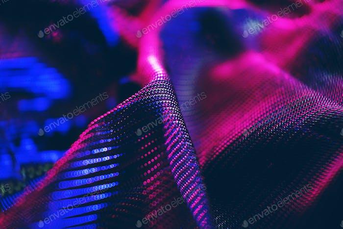 Ein erstaunliches und schönes Makro mit Neonlicht