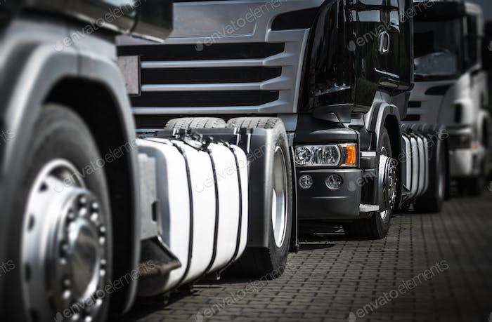 Trucks Staying in Traffic