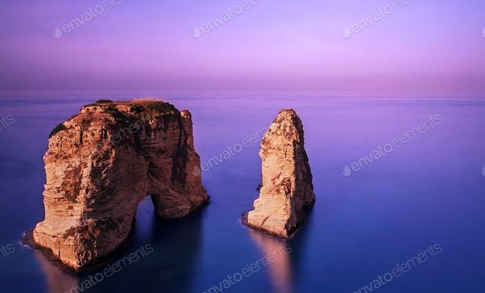 Rawsha rock on sunset