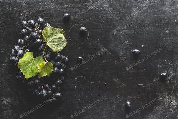 Food background with Fresh Grapes. Lots of copy space