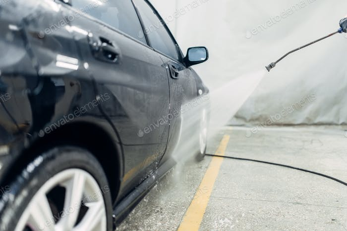 Carwash service, high pressure washing