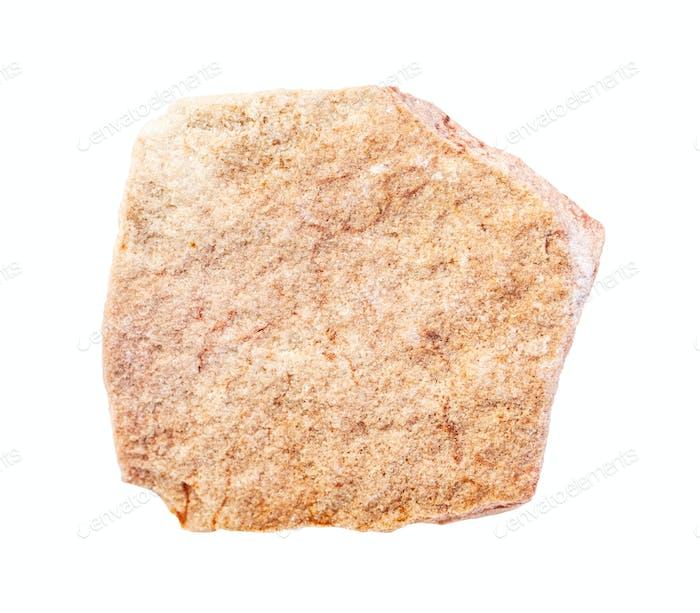 ungeschliffener gelber Kalksandstein