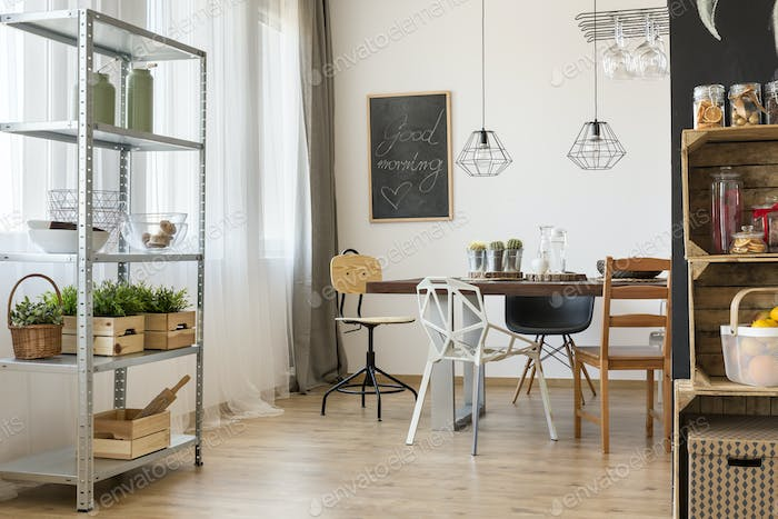 Room corner with dining table