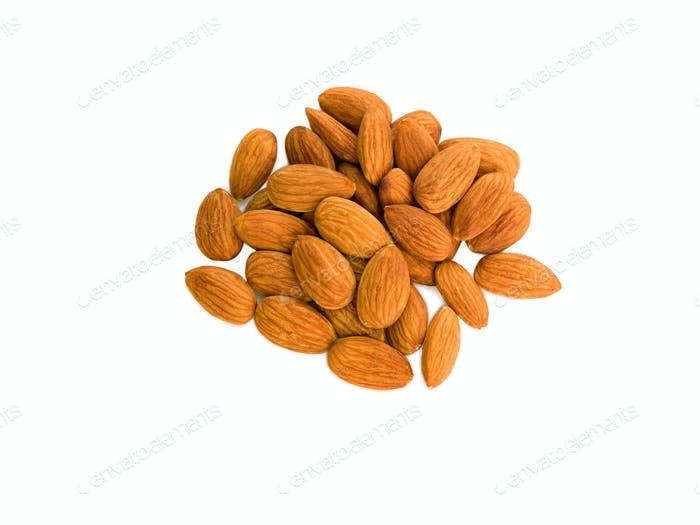 peanuts almond peeled, isolated