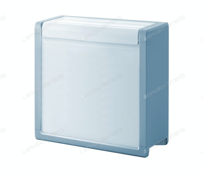 Traveling refrigerator isolated on a white background
