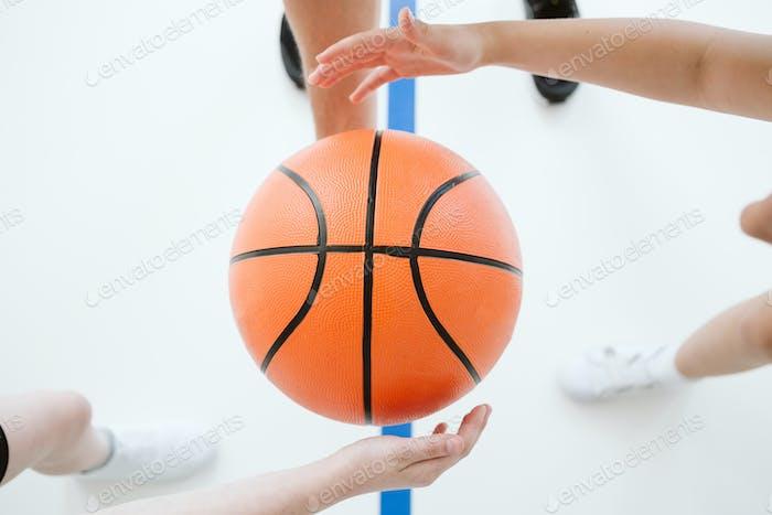 Close up of a baskebtball