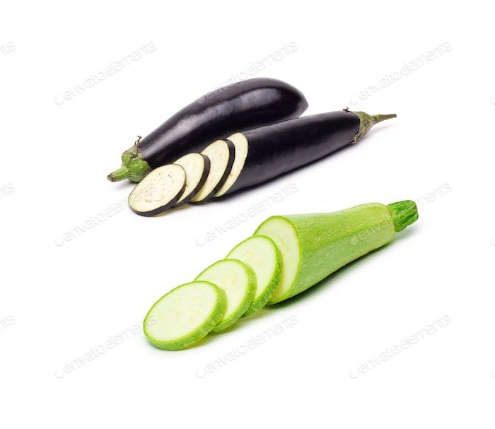 eggplant or aubergine vegetables