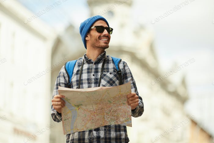 Modern Tourist Holding Map