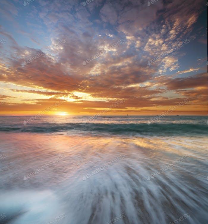 Wunderschöne Meereslandschaft.
