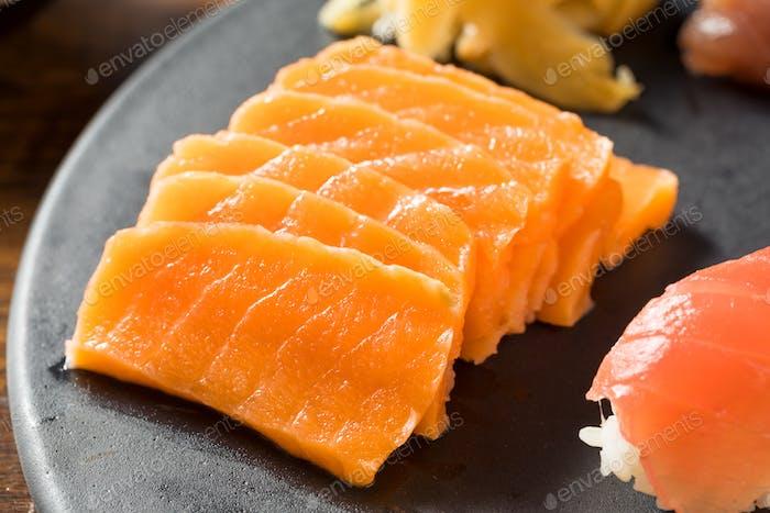 Raw Japanese Salmon Sashimi