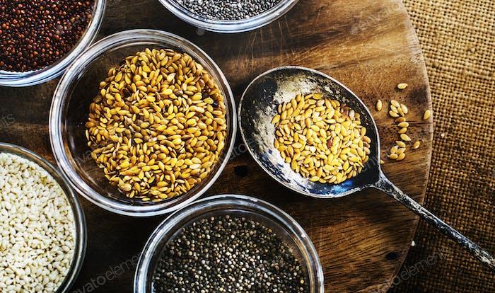 Gemischt von Super Food Samen gesund