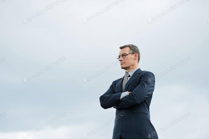Confident ambitious businessman