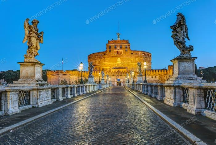 The Castel Sant Angelo and the Sant Angelo bridge