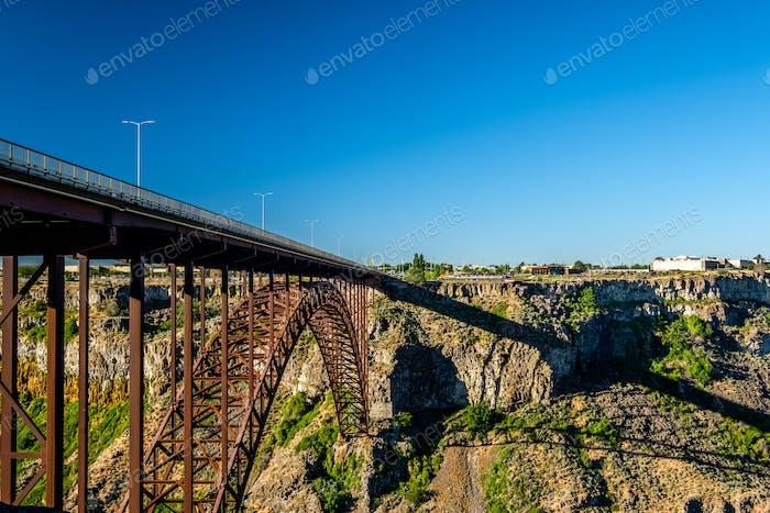 Snake River And Perrine Bridge Near Twin Falls Idaho Photo By