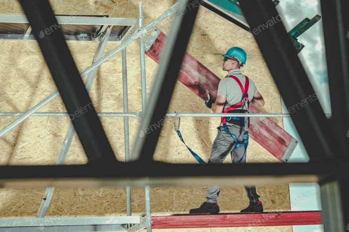Men Installing Scaffolding