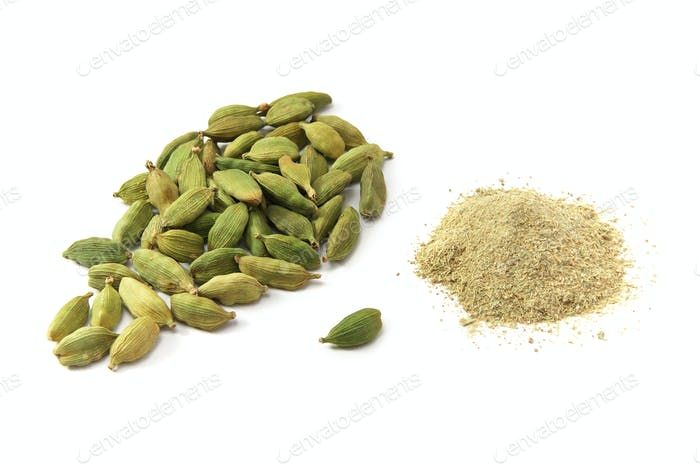 Cardamom isolated