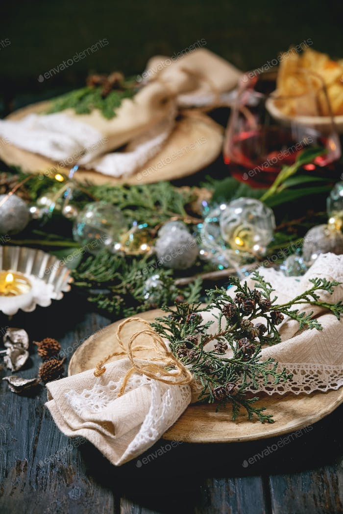 Christmas or New year table