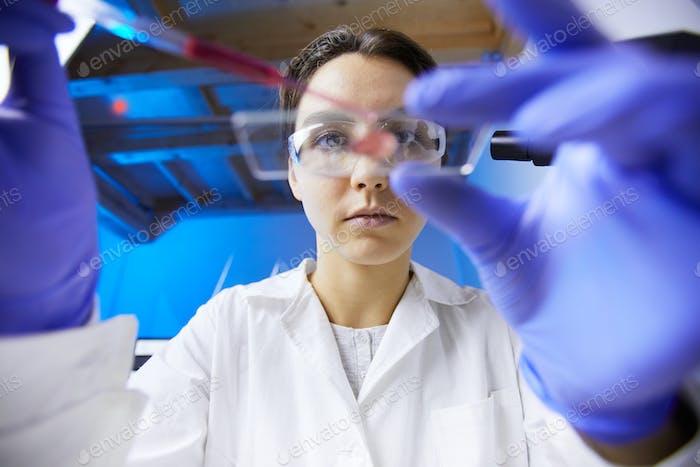 Medical Technician in Lab