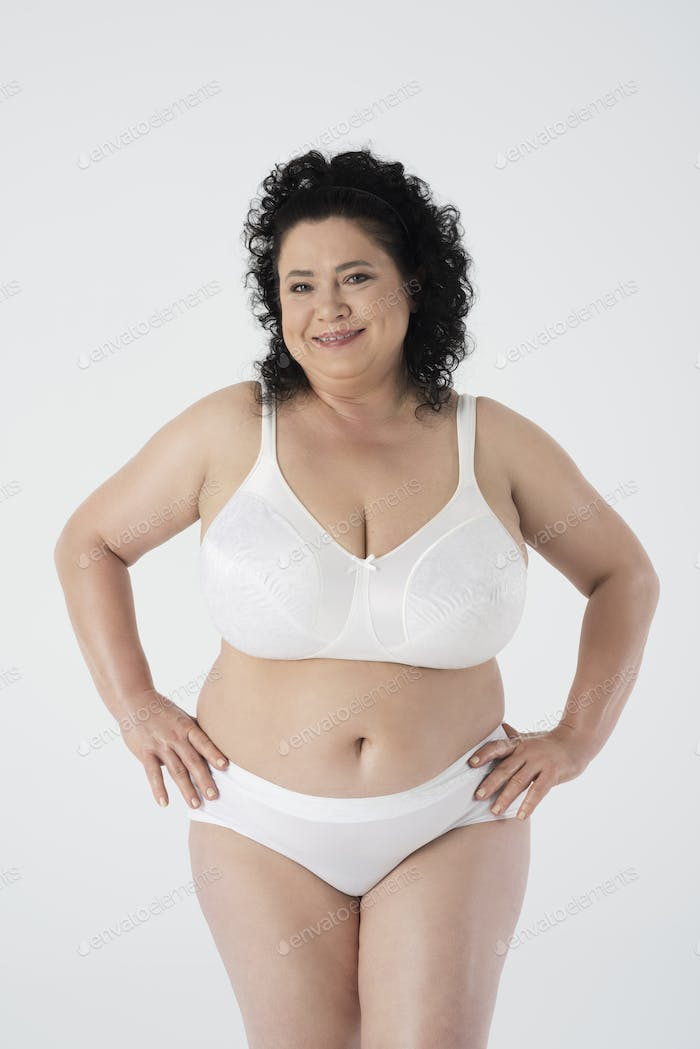 Despite overweight she feels beautiful