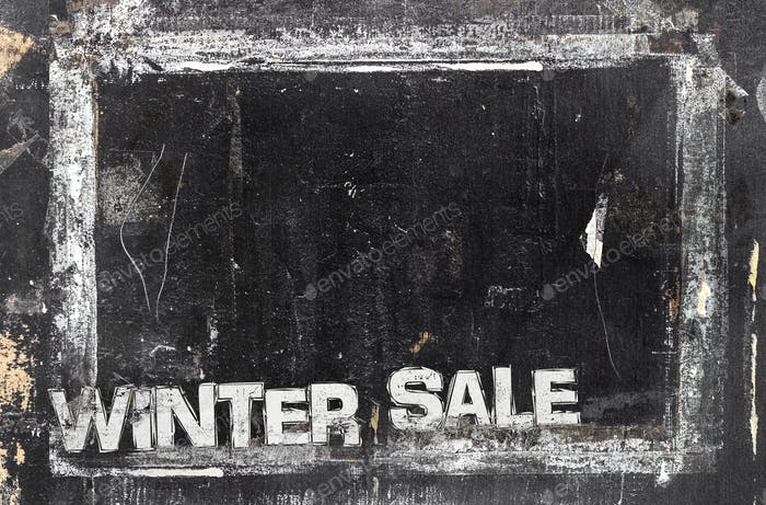 Chalkboard Winter Sale