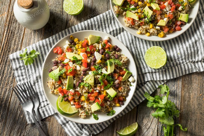 Homemade Mexican Baja Rice Bowl