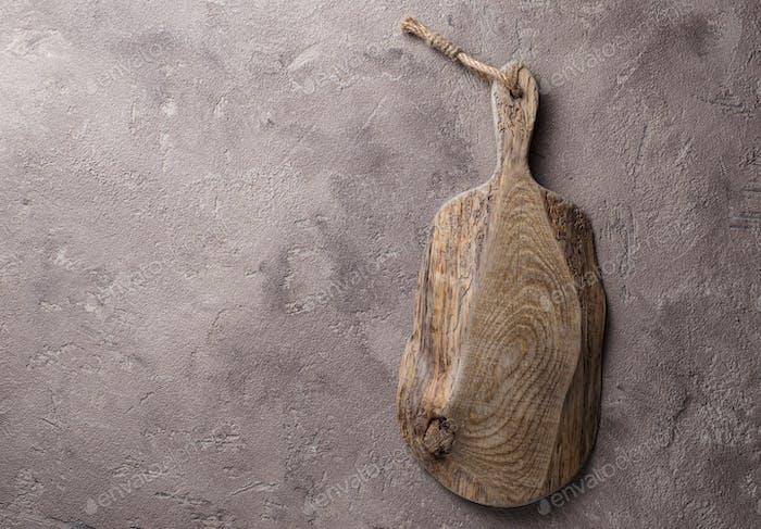 Leeres Holz rustikal Schneidebrett