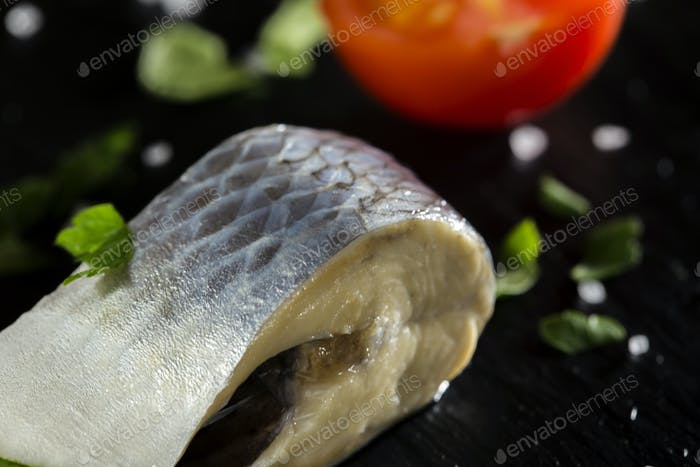 marinated herring fish