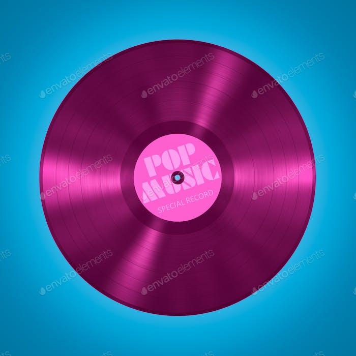 vinyl record pop music