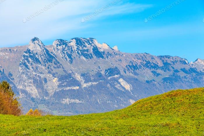 mountain autumn landscape. Colorful autumn landscape.  mountains