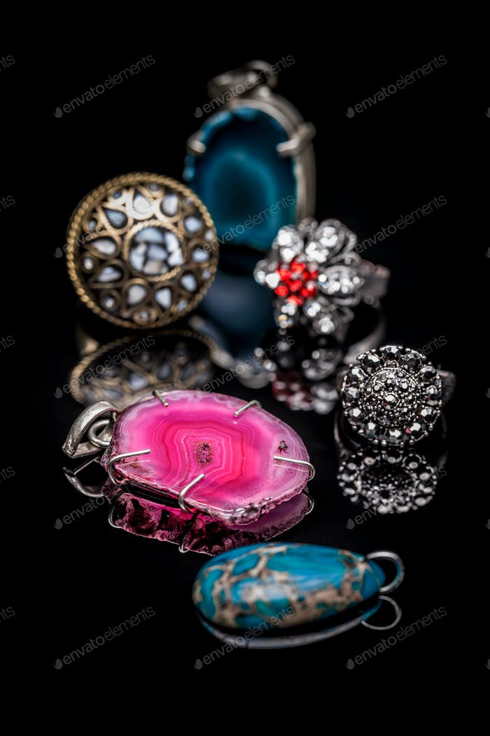 Rings and pendants