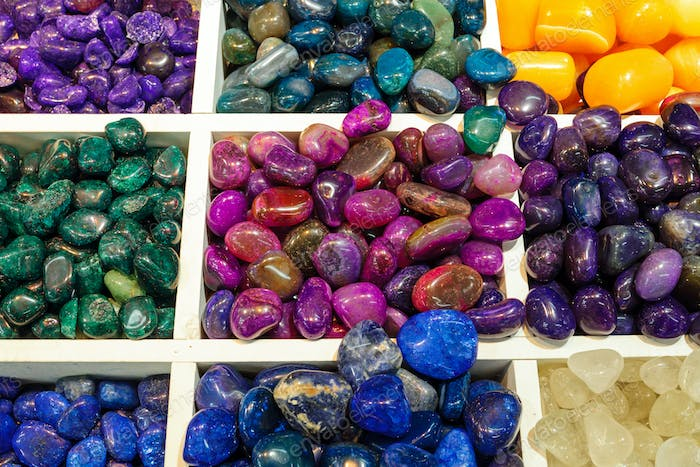 Selection of semiprecious stones