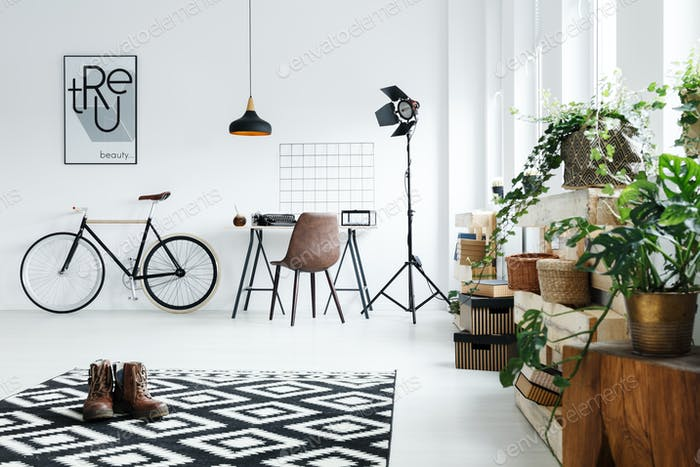 Room with modern accessories