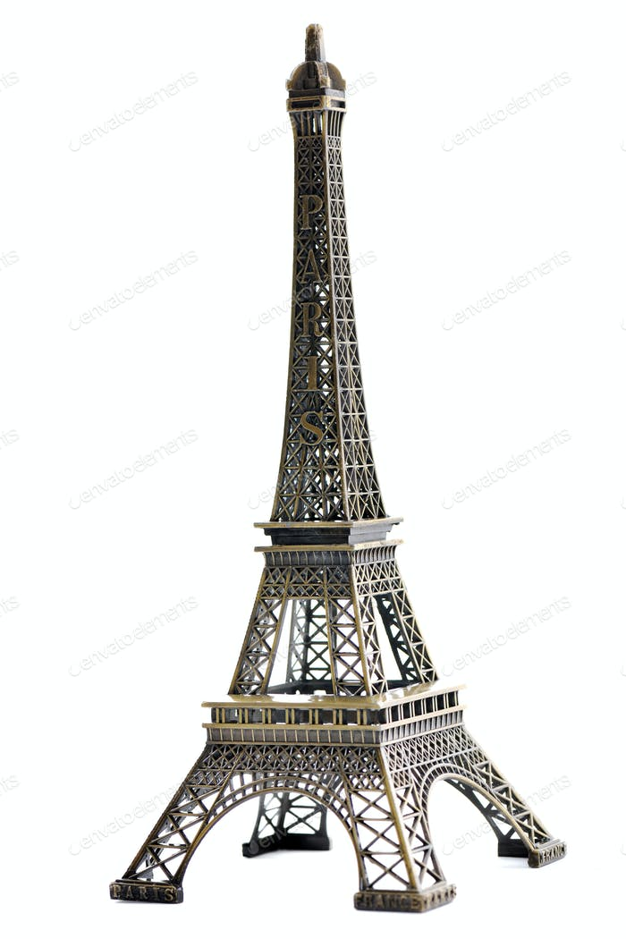 paris eiffel tower model isolated