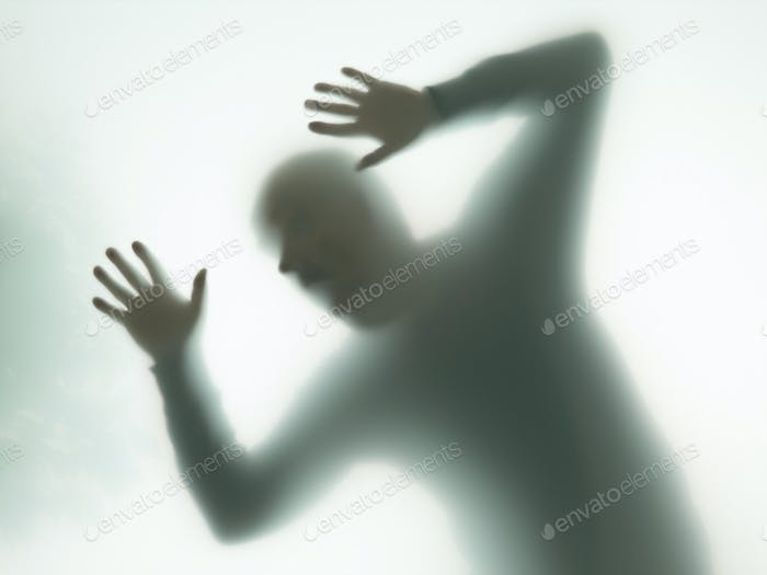 dramatic silhouette of man