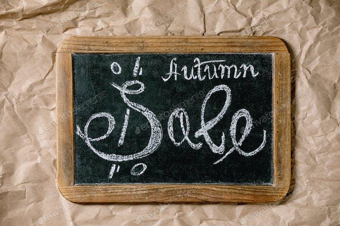 Concepto de venta de otoño
