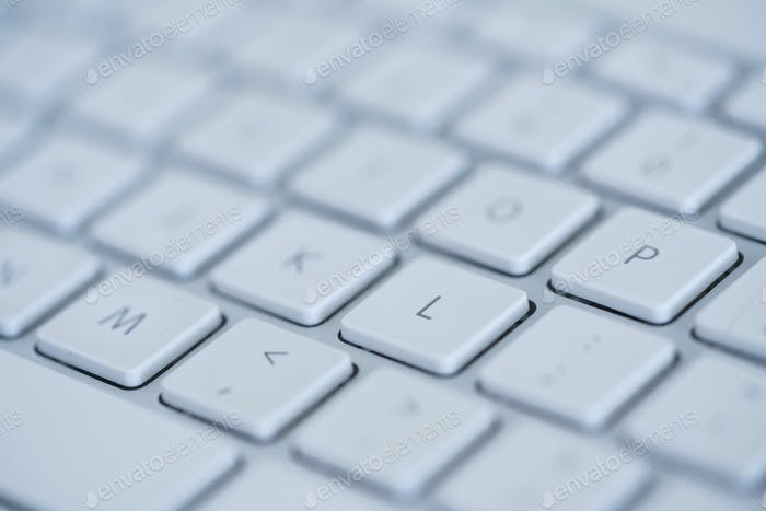 Keyboard of laptop closeup