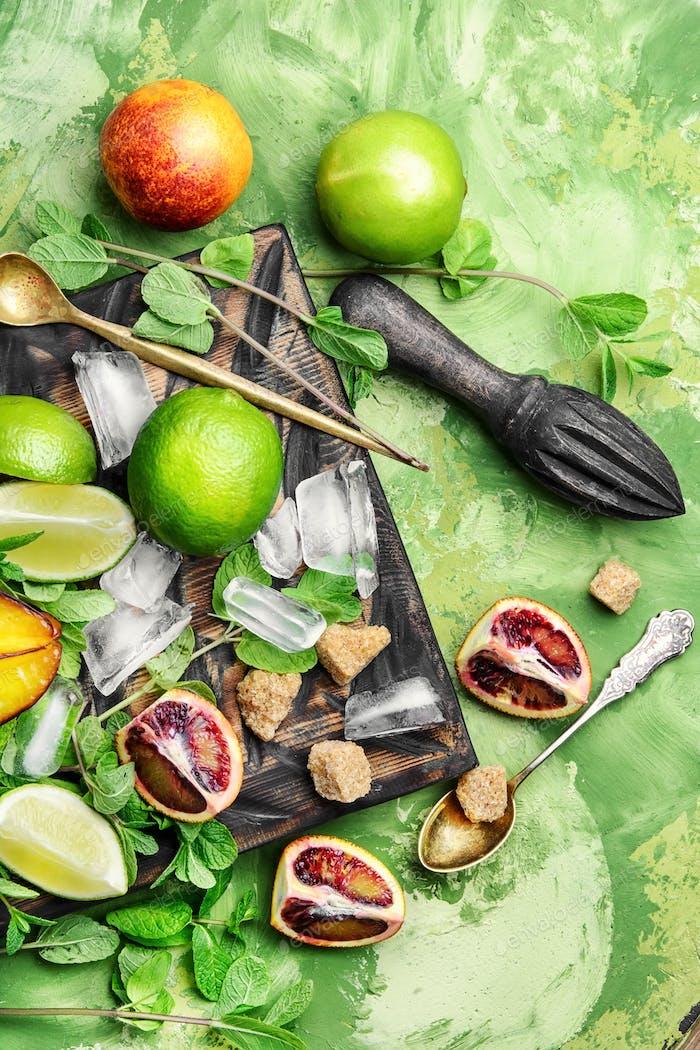 citrus fruit ingredients for detox drink
