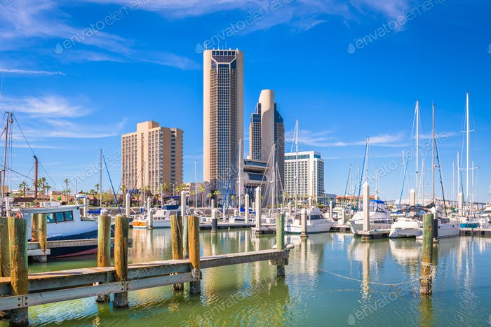 Corpus Christi, Texas, USA skyline on the bay