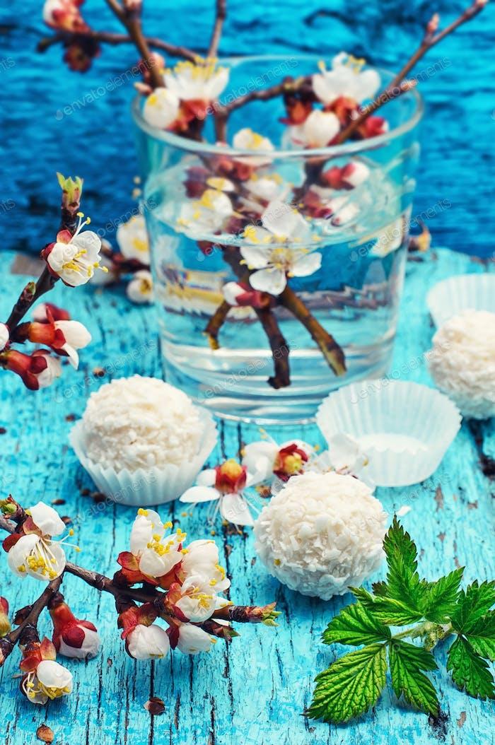 Frühling und Süßigkeiten