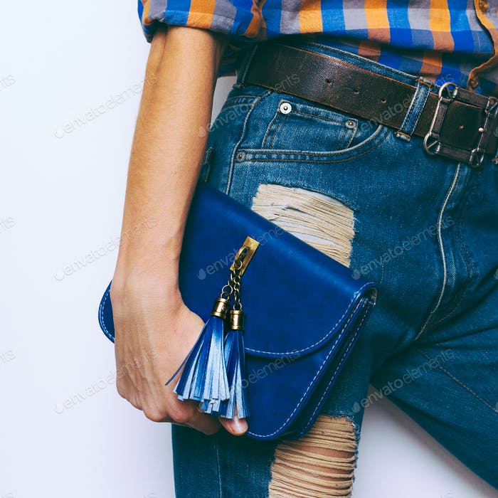 Country style fashion. Fashionable Bags and Belts