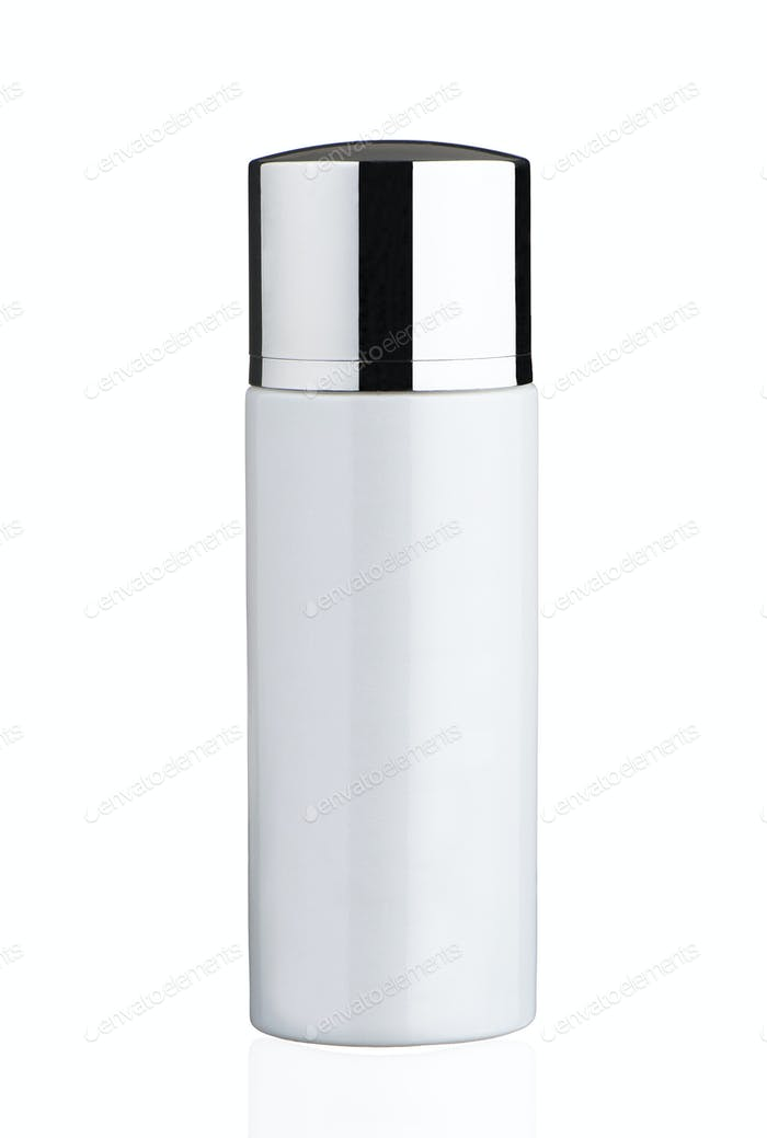 White tube isolated on a white