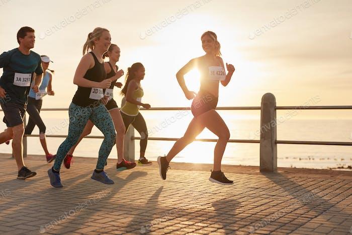 Läufer in einem Marathonrennen