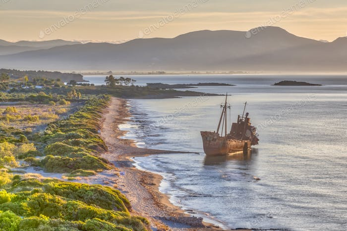 Rusty Shipwreck on Peloponnese coas