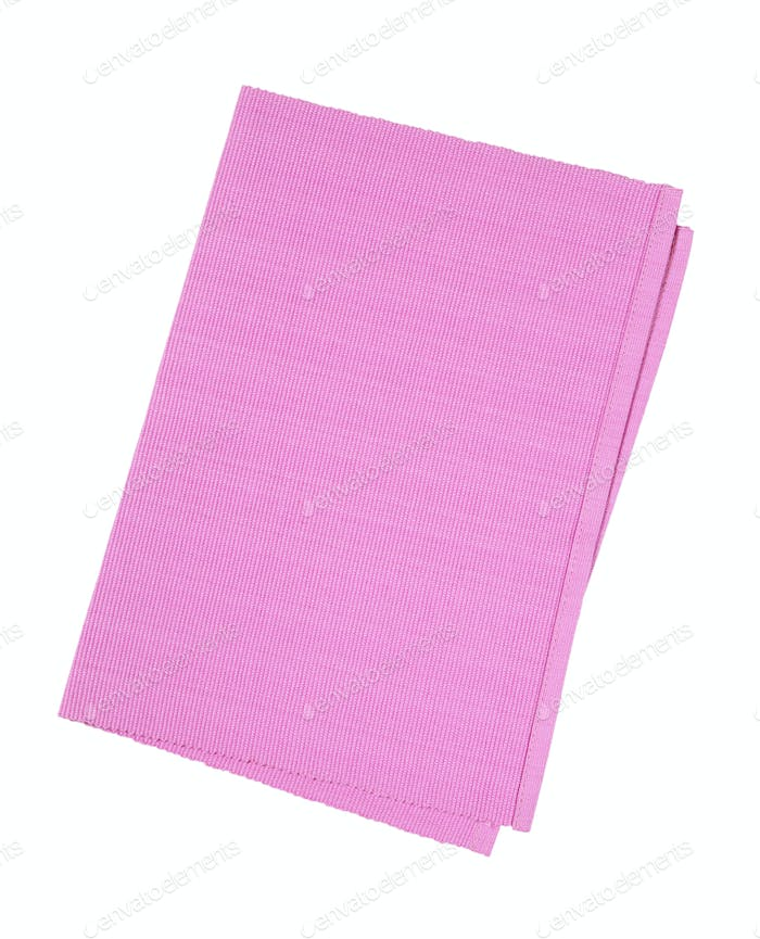 Pink woven cotton placemat