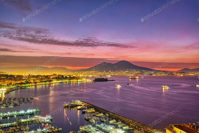 Dramatic sunrise in Naples