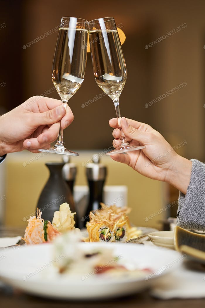 Cheers to all the best with delicious champagne
