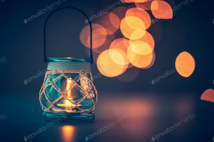 Romantic candlelight atmosphere