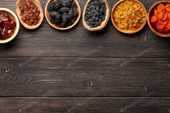 Various dried fruits